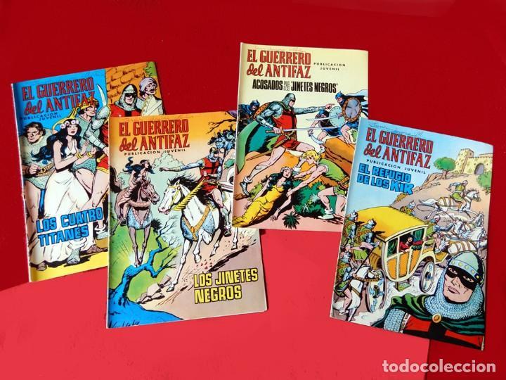 Tebeos: EL GUERRERO DEL ANTIFAZ, 12 PORTADAS (SIN CÓMIC) Nº 13 AL 24, - EDIC. COLOREADA 1972, DE M. GAGO - Foto 4 - 165483782