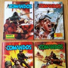 Tebeos: LOTE COMANDOS (NOVELAS BÉLICAS) N°1-2-3-4. EDITORA VALENCIANA, 1981.DIFÍCIL!.. Lote 166190262