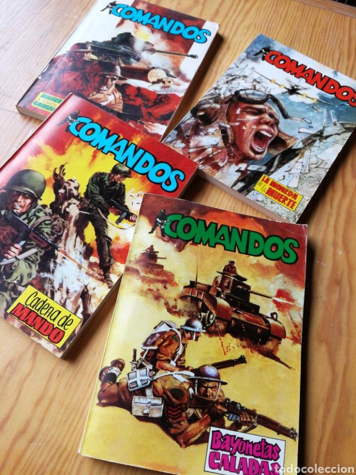 Tebeos: LOTE COMANDOS (NOVELAS BÉLICAS) N°1-2-3-4. EDITORA VALENCIANA, 1981.DIFÍCIL!. - Foto 2 - 166190262