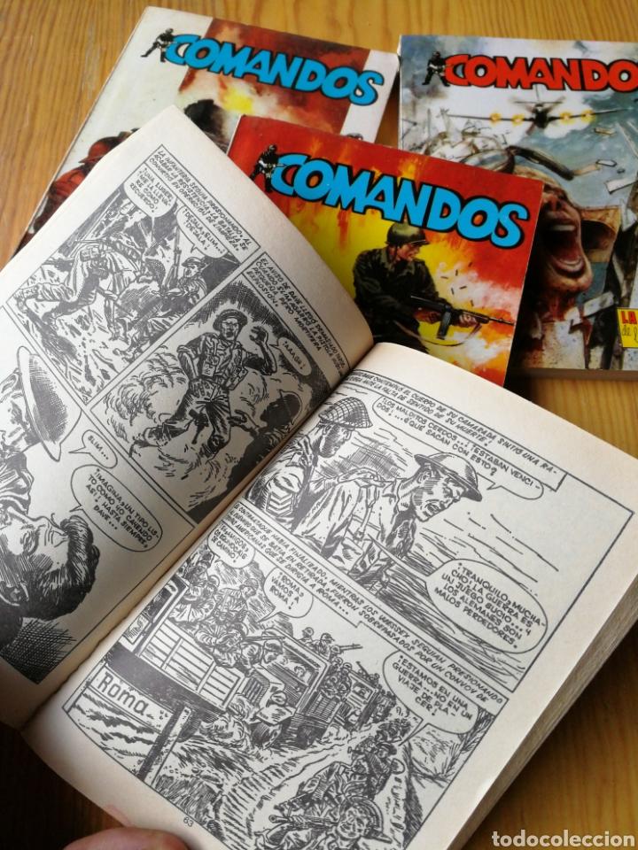 Tebeos: LOTE COMANDOS (NOVELAS BÉLICAS) N°1-2-3-4. EDITORA VALENCIANA, 1981.DIFÍCIL!. - Foto 4 - 166190262