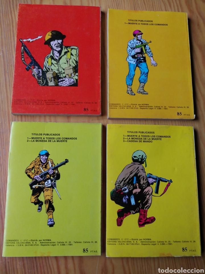 Tebeos: LOTE COMANDOS (NOVELAS BÉLICAS) N°1-2-3-4. EDITORA VALENCIANA, 1981.DIFÍCIL!. - Foto 5 - 166190262