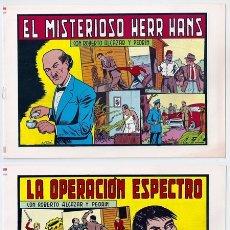Tebeos: ROBERTO ALCÁZAR Y PEDRÍN, 165-166: EL MISTERIOSO HERR HANS | LA OPERACIÓN ESPECTRO - EDITVAL, 1984. Lote 166464986