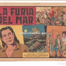 Tebeos: MILTON EL CORSARIO Nº 43 TEBEO ORIGINAL 1957 LA FURIA DEL MAR EDITORIAL VALENCIANA OFERTA MIRA !!. Lote 166889980