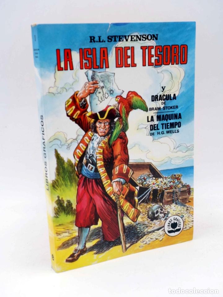 LIBROS GRÁFICOS 1. LA ISLA DEL TESORO, DRÁCULA, LA MÁQUINA DEL TIEMPO (A. NIÑO) EDIPRINT, 1982. OFRT (Tebeos y Comics - Valenciana - Otros)