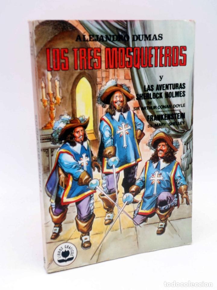 LIBROS GRÁFICOS 2. TRES MOSQUETEROS, FRANKENSTEIN, S. HOLMES (REDONDO / NIÑO) EDIPRINT, 1982. OFRT (Tebeos y Comics - Valenciana - Otros)