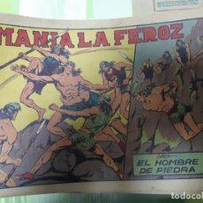 Tebeos: TEBEOS-COMICS CANDY - HOMBRE DE PIEDRA - Nº 10 - VALENCIANA 1950 - ORIGINAL *AA98 . Lote 167196664