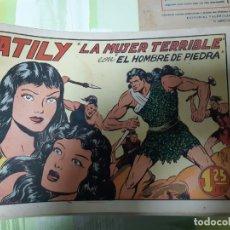 Tebeos: TEBEOS-COMICS CANDY - HOMBRE DE PIEDRA - Nº 20 - VALENCIANA 1950 - ORIGINAL *AA98 . Lote 167201884
