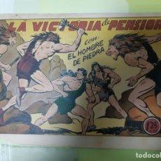Tebeos: TEBEOS-COMICS CANDY - HOMBRE DE PIEDRA - Nº 38 - VALENCIANA 1950 - ORIGINAL *AA98 . Lote 167220052