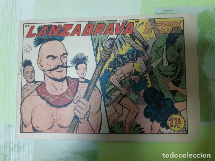 TEBEOS-COMICS CANDY - HOMBRE DE PIEDRA - Nº 128 - VALENCIANA 1950 - ORIGINAL * UU99 (Tebeos y Comics - Valenciana - Purk, el Hombre de Piedra)