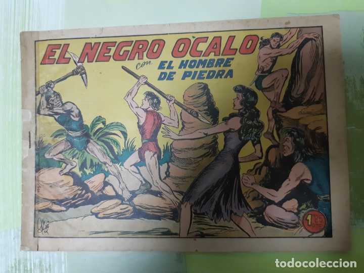 TEBEOS-COMICS CANDY - HOMBRE DE PIEDRA - Nº 184 - VALENCIANA 1950 - ORIGINAL * UU99 (Tebeos y Comics - Valenciana - Purk, el Hombre de Piedra)