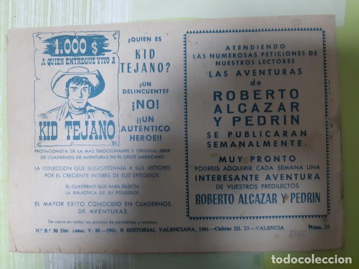 Tebeos: TEBEOS-COMICS CANDY - REY FURIA - Nº 25 - VALENCIANA 1961 - ORIGINAL * UU99 - Foto 2 - 167302084