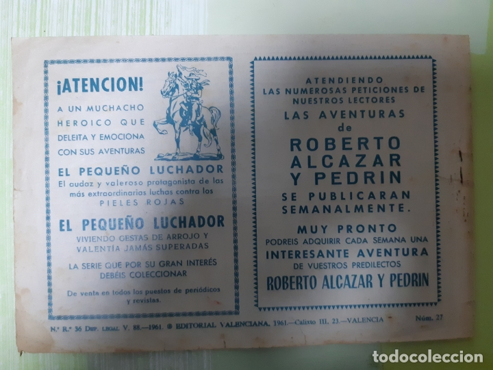 Tebeos: TEBEOS-COMICS CANDY - REY FURIA - Nº 27 ULTIMO - VALENCIANA 1961 - ORIGINAL * UU99 - Foto 2 - 167304096