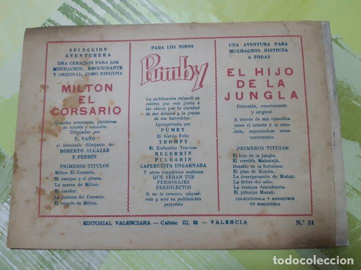Tebeos: TEBEOS-COMICS CANDY - EL HIJO DE LA JUNGLA - Nº 31 - VALENCIANA 1956 - ORIGINAL * AA99 - Foto 2 - 167376472