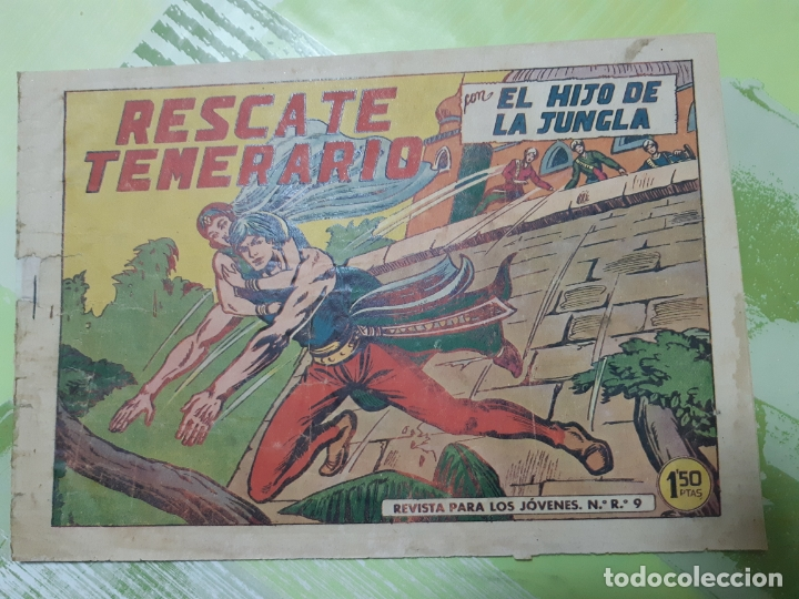 TEBEOS-COMICS CANDY - EL HIJO DE LA JUNGLA - Nº 45 - VALENCIANA 1956 - ORIGINAL * UU99 (Tebeos y Comics - Valenciana - Otros)