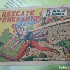 Tebeos: TEBEOS-COMICS CANDY - EL HIJO DE LA JUNGLA - Nº 45 - VALENCIANA 1956 - ORIGINAL * UU99. Lote 167385120