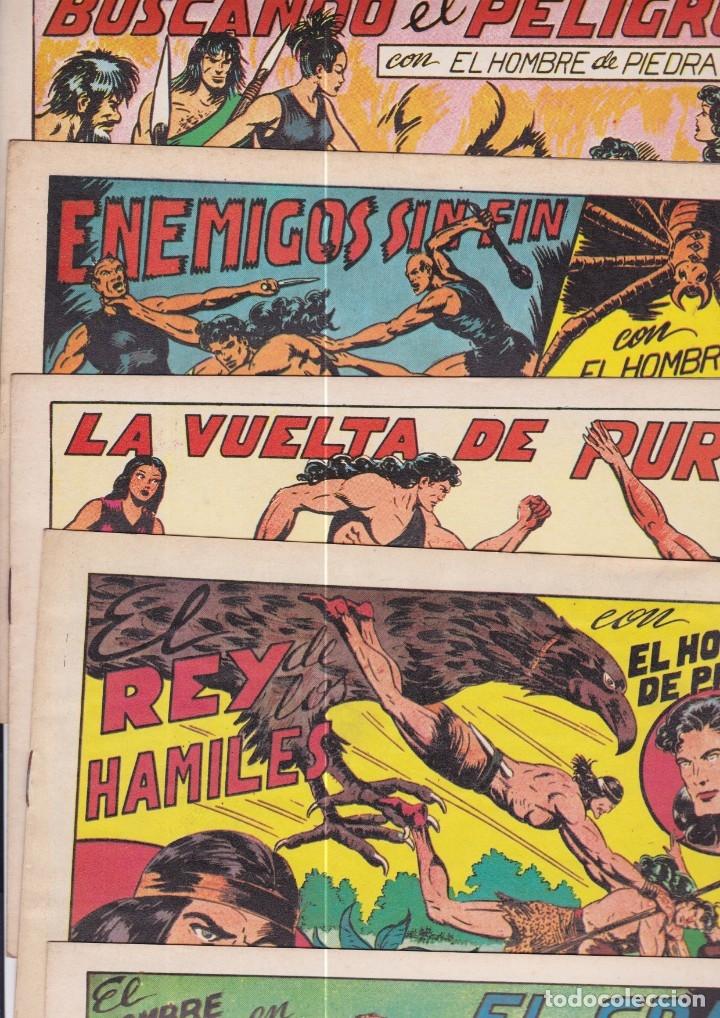 PURK EL HOMBRE DE PIEDRA. REEDICIÓN FACSÍMIL. LOTE DE 16 CUADERNILLOS (Tebeos y Comics - Valenciana - Purk, el Hombre de Piedra)