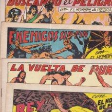 Tebeos: PURK EL HOMBRE DE PIEDRA. REEDICIÓN FACSÍMIL. LOTE DE 16 CUADERNILLOS. Lote 169181876