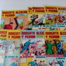 Tebeos: LOTE 8 COMICS ROBERTO ALCAZAR Y PEDRIN Nº31,32, 33,34,35,36,37 Y GOLIAT, EL TEMIBLE. Lote 169354256