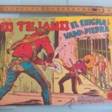 Tebeos: KID TEJANO EL ENIGMA DE VADO DE PIEDRA. Nº , NUM. 36. 1961, EDITORIAL VALENCIANA. Lote 170922720