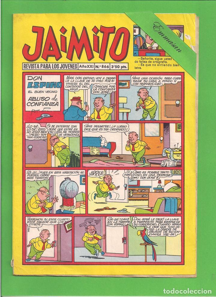 JAIMITO - Nº 866 - DON ESPINO EL BUEN VECINO ABUSO DE CONFIANZA - VALENCIANA - (1966). (Tebeos y Comics - Valenciana - Jaimito)