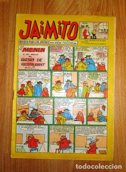 JAIMITO : REVISTA PARA LOS JÓVENES. AÑO XIX ; Nº 753 ; 14-III-1964 (Tebeos y Comics - Valenciana - Jaimito)