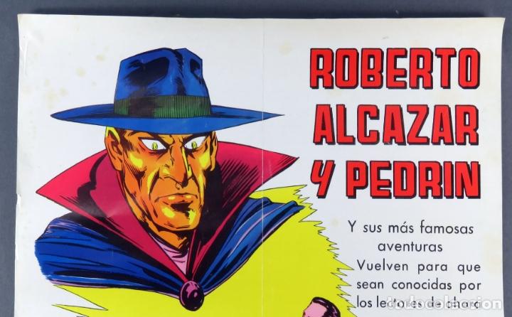 Tebeos: Cartel Roberto Alcázar y Pedrín Editora Valenciana 1976 - Foto 2 - 171423745