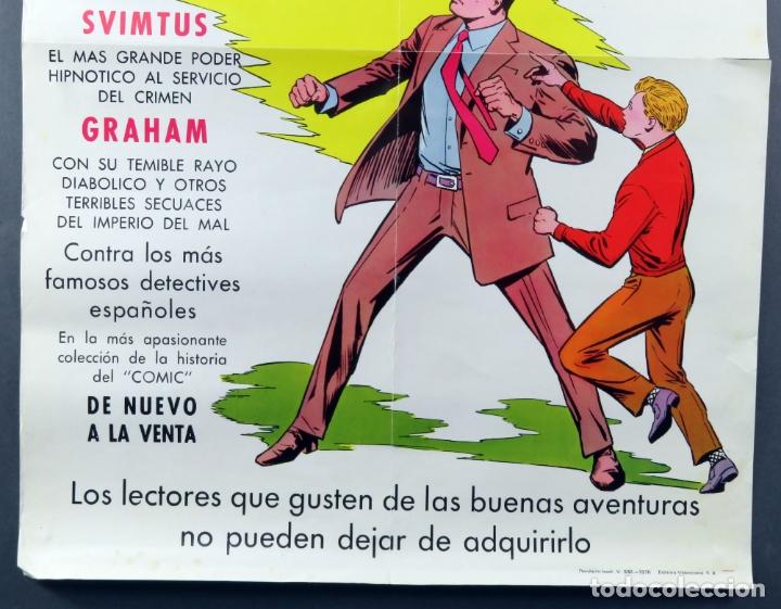 Tebeos: Cartel Roberto Alcázar y Pedrín Editora Valenciana 1976 - Foto 3 - 171423745