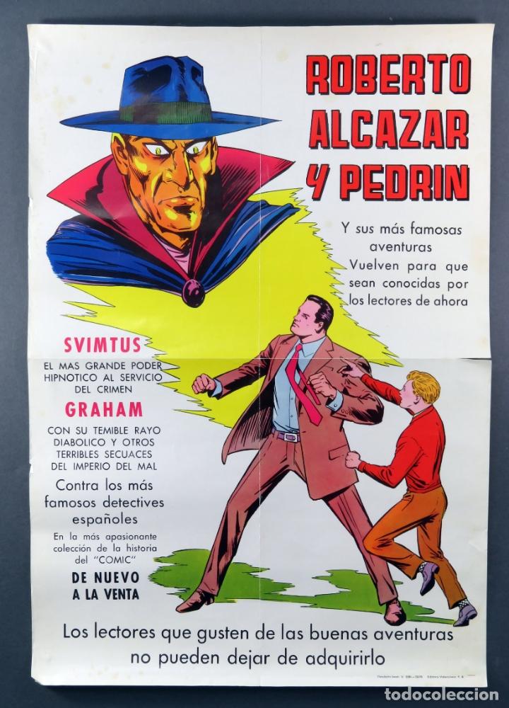 CARTEL ROBERTO ALCÁZAR Y PEDRÍN EDITORA VALENCIANA 1976 (Tebeos y Comics - Valenciana - Roberto Alcázar y Pedrín)