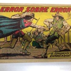 Tebeos: COMIC ORIGINAL EL ESPADACHIN ENMASCARADO Nº 231 EDITORIAL VALENCIANA. Lote 172086577