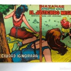Tebeos: COMIC ORIGINAL COLECCION EL JUSTICIERO NEGRO Nº 8 EDITORIAL VALENCIANA. Lote 172143022