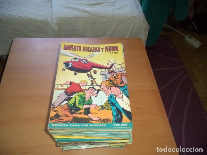 ROBERTO ALCAZAR Y PEDRÍN EXTRA AÑO 1966 LOTE DE 85 TEBEOS ORIGINALES DIBUJANTES VAÑO AMBRÓS GUERRERO (Tebeos y Comics - Valenciana - Roberto Alcázar y Pedrín)
