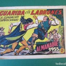 Tebeos: ESPADACHIN ENMASCARADO, EL (1952, VALENCIANA) 139 · 18-XII-1954 · GUARIDA DE LADRONES. Lote 172663180