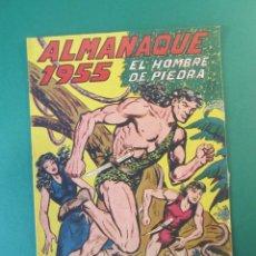 Tebeos: PURK EL HOMBRE DE PIEDRA (1950, VALENCIANA) EXTRA 4 · XII-1954 · ALMANAQUE 1955 ¡¡¡ DIFICILI !!!. Lote 172725937