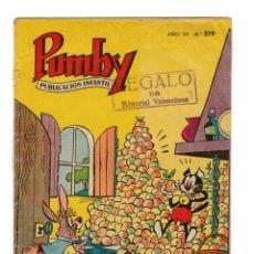 Tebeos: PUMBY Nº 219 -ORIGINAL-. Lote 172786587