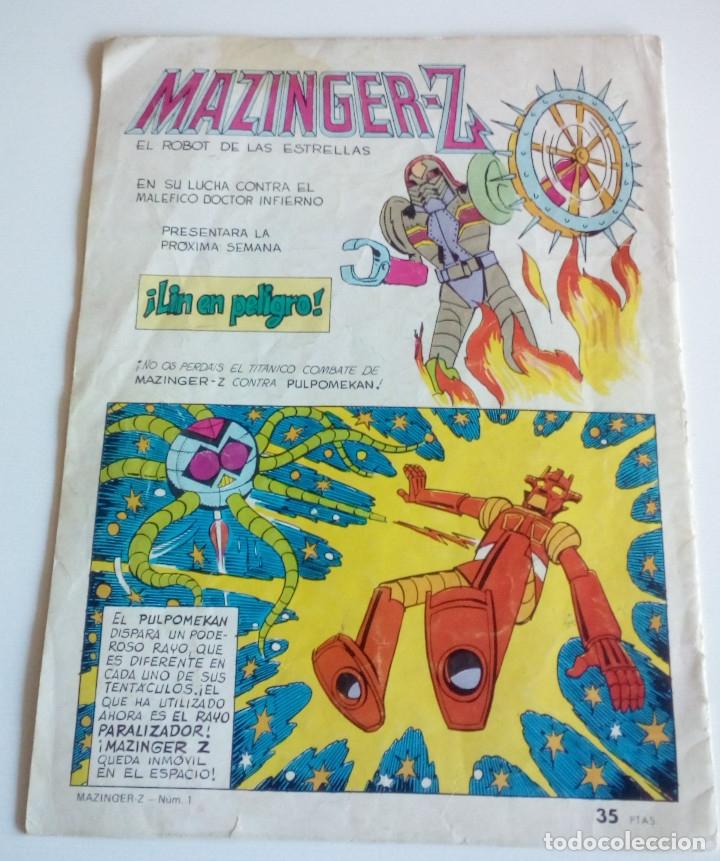 Tebeos: MAZINGER-Z NUM. 1 - EDITORIAL VALENCIANA - Foto 2 - 172913148