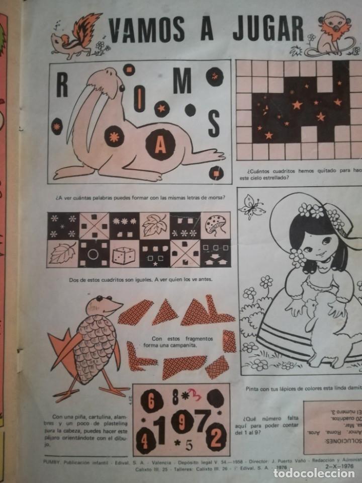 Tebeos: TEBEO PUMBY. REVISTA INFANTIL. AÑO XXII. Nº 986. EXTRA DE OTOÑO - Foto 4 - 173794814