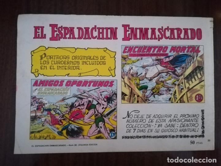 Tebeos: EL ESPADACHÍN ENMASCARADO. Nº 30. PERSEGUIDOSA A MUERTE - Foto 3 - 173797243