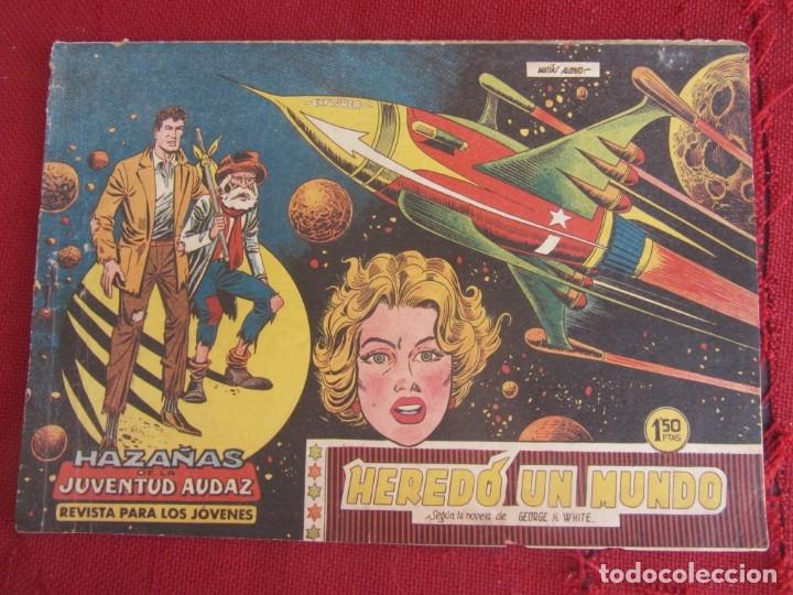 HAZAÑAS DE LA JUVENTUD AUDAZ. Nº 1. HEREDÓ UN MUNDO. VALENCIANA 1959 (Tebeos y Comics - Valenciana - Otros)