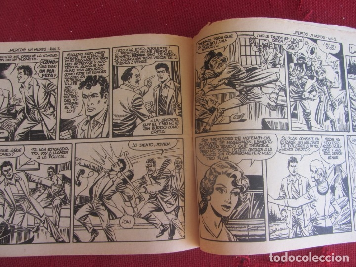 Tebeos: HAZAÑAS DE LA JUVENTUD AUDAZ. Nº 1. HEREDÓ UN MUNDO. VALENCIANA 1959 - Foto 4 - 174029235
