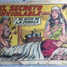 Tebeos: EL SECRETO INVIOLABLE. EL HIJO DE LA JUNGLA. Lote 174034839