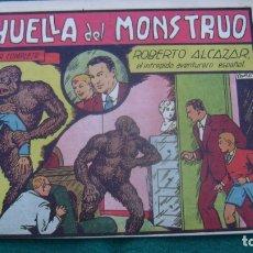 Tebeos: ROBERTO ALCAZAR ORIGINAL EL 37 LA HUELLA DEL MONSTRUO PRIMERA EDICION CJ ROBERTO. Lote 174048355