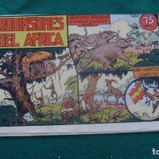 Tebeos: ROBERTO ALCAZAR ORIGINAL EL 20 ROBINSONES DEL AFRICA PRIMERA EDICION CJ ROBERTO. Lote 174048540