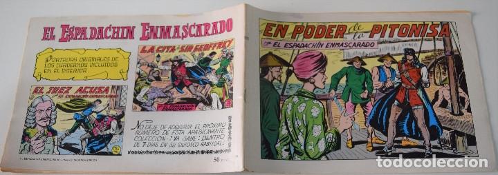 Tebeos: EL ESPADACHIN ENMASCARADO Nº 66 - EN PODER DE LA PITONISA - SEGUNDA EDICIÓN - Foto 2 - 175667354