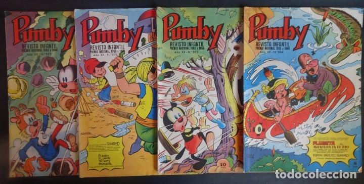 LOTE DE 4 ANTIGUOS TEBEOS PUMBY PUBLICACIÓN INFANTIL, AÑO XX Nº 876-883-884-892, VER FOTOS (Tebeos y Comics - Valenciana - Pumby)