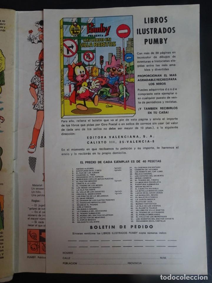 Tebeos: LOTE DE 4 ANTIGUOS TEBEOS PUMBY PUBLICACIÓN INFANTIL, AÑO XX Nº 876-883-884-892, VER FOTOS - Foto 11 - 175685758