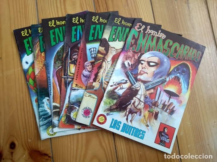 EL HOMBRE ENMASCARADO - COLOSOS DEL COMIC NºS 1 2 3 4 5 6 Y 7 - BUEN Y MUY BUEN ESTADO (Tebeos y Comics - Valenciana - Colosos del Comic)