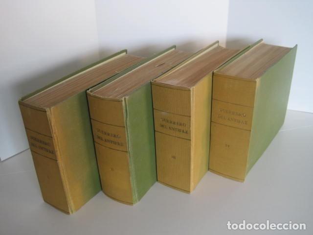 CÓMIC GUERRERO DEL ANTIFAZ. 4 TOMOS, NÚMEROS 1-362. EDITORIAL VALENCIANA. 1958. ENCUADERNADO. (Tebeos y Comics - Valenciana - Guerrero del Antifaz)