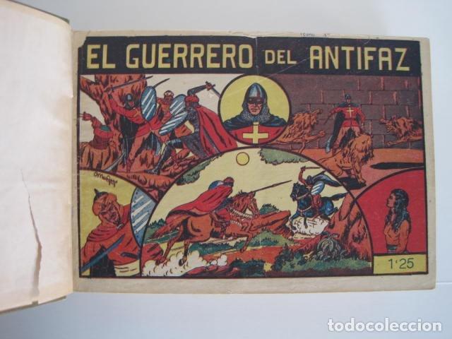Tebeos: CÓMIC GUERRERO DEL ANTIFAZ. 4 TOMOS, NÚMEROS 1-362. EDITORIAL VALENCIANA. 1958. ENCUADERNADO. - Foto 8 - 175932008