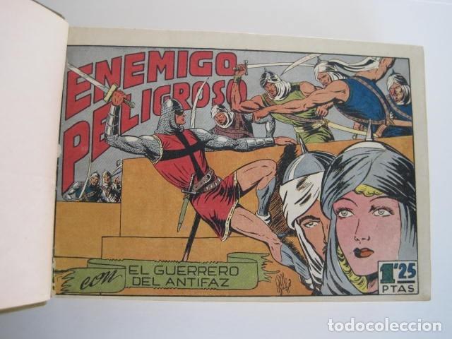 Tebeos: CÓMIC GUERRERO DEL ANTIFAZ. 4 TOMOS, NÚMEROS 1-362. EDITORIAL VALENCIANA. 1958. ENCUADERNADO. - Foto 16 - 175932008
