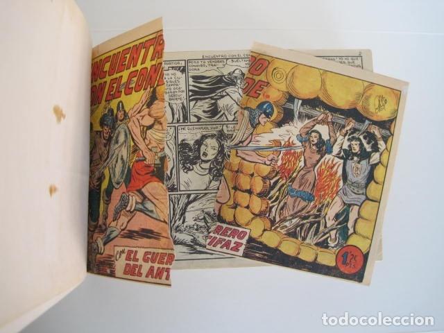Tebeos: CÓMIC GUERRERO DEL ANTIFAZ. 4 TOMOS, NÚMEROS 1-362. EDITORIAL VALENCIANA. 1958. ENCUADERNADO. - Foto 26 - 175932008